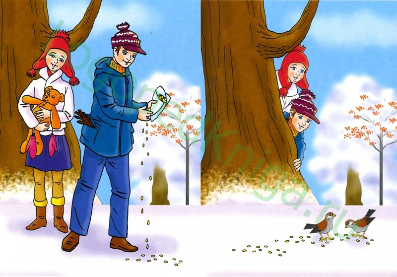 Времена года зима - картинки демонстрационный материал.